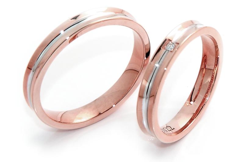 Famoso Fedeinfinita - Fede Nuziale In Oro Bicolore Rosa e Bianca Mod  PV03
